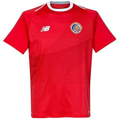 """New Balance Herren Fußballtrikot Costa Rica Home Jersey WM 2018\"""" Kurzarm rot/weiss (708) M"""