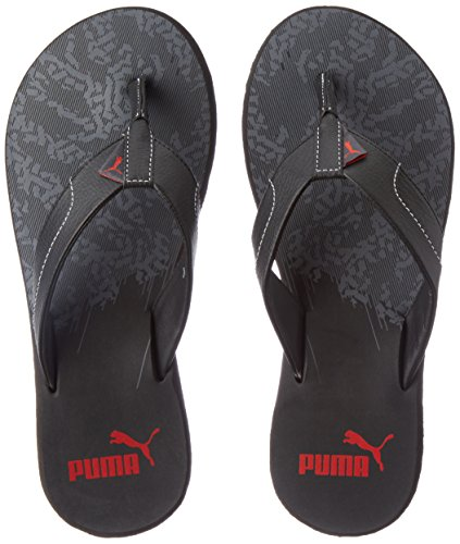 Puma Men's Wrens II Gu Dp Puma Black, Quiet Shade and Barbados Cherry Hawaii Thong Sandals - 9 UK/India (43 EU)