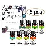 Aceites Esenciales, iFanze Aceites Esenciales Naturales para Humidificador, Difusor, Masaje, Cuerpo,...
