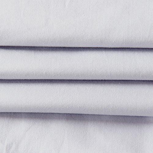 Bedecor Juego de cama 135x200 cm con cremallera + 80x80 cm 100% algodón textiles ecológicos gris
