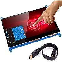 "Kuman Capacitive 7"" inch Touch Screen TFT LCD module HDMI 800x480 for Raspberry Pi 3, 2 and RPi 1 Model B B+ BB BLACK SC7B"