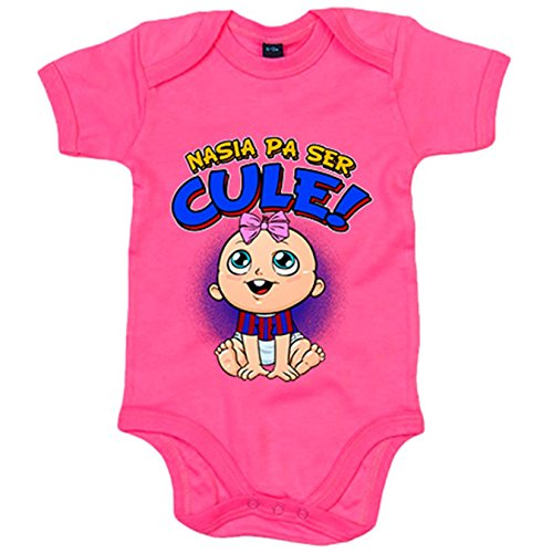 Body bebé nacida para ser Culé Barcelona fútbol - Rosa, 6-12 meses