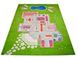 Little Helper Hypoallergener Dicker 3D-Kinderspielteppich, 134 x 200 cm, grün