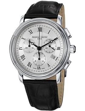 Frederique Constant Herren-Armbanduhr XL Classics Collection Chronograph Quarz Leder FC-292MC4P6