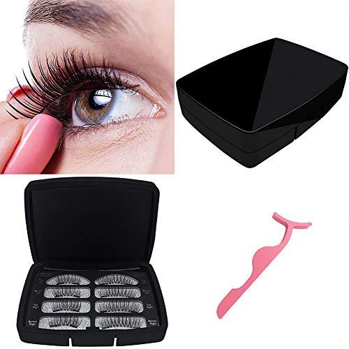 JZTRADING Frauenwimpern Falsche Wimpern Makeup-Zubehör Handgemachte magnetische Wimpern 3D Zusätzliche Makeup-Tools Natürlich künstliche Nerzwimpern