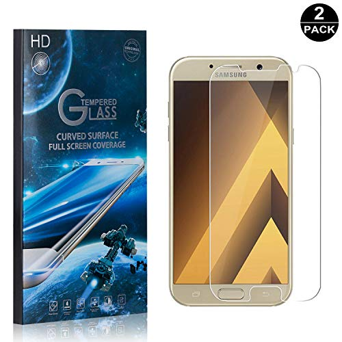 Price comparison product image Galaxy A3 2017 Screen Protector Tempered Glass,  Bear Village® Perfect Fit & Anti Fingerprint HD Screen Protector Film for Samsung Galaxy A3 2017-2 Pack