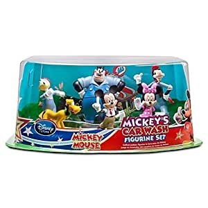 Disney Ensemble de figurines de Mickey Mouse ''Mickey's lave-auto '' --Mickey Car Wash 6-Pc.