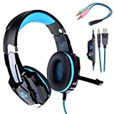 Gaming headset PS4,Hunterspider PC headset Over-Ear Headphone Stereo with Mic LED Lighting