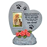 PETAFLOP Pet Memorial Stones con foto, Pet Photo Photo Frame Dog o Cat Memorial Plaque for Garden Backyard