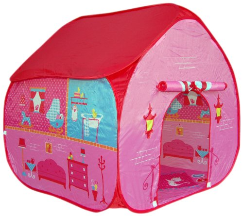 pop up pop it up childrens play tent for girls pink at. Black Bedroom Furniture Sets. Home Design Ideas