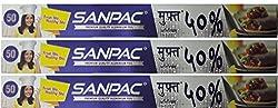 Amit Marketing 50% Sanpac Aluminium Foil, Silver Colour foil roll [Pack Of 3]