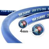 Câble d'haut-parleurs Twin-Axial (Bi-axial) Van Damme Séries Bleues Professionnel Grade (2 câbles centraux, bleu et rouge) 2 x 4.0mm 268-545-060 5 Meter / 5m