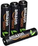 AmazonBasics High Capacity AAA Pre-Charged Rechargeable Batteries 850 mAh [Pack of 4]