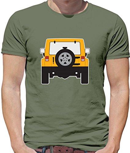 Wrangle - Heckansicht Detonationsgelb (Detonatory Yellow) - Herren T-Shirt - Khaki - XL (Cherokee Herren T-shirt Schwarz)