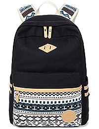 Ambielly Estilo mochilas escolares espesado bolsa de mano hombro del ordenador portátil Mochila bolso causal mochila escolar