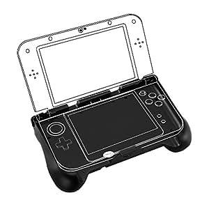 BestFire Power Grip per New 3DS XL e 3DS LL Grip di impugnatura protettiva ricaricabile con cavo USB