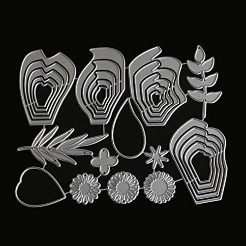 LouiseEvel215 Blume Blätter Metall Stanzen Stirbt Für DIY Scrapbooking Dekorative Karten Prägestempel Geschnittenen Schablonen Handwerk Geschenk