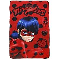 Miraculous Cerdá 2200002407, Manta Polar Diseño Ladybug, Poliéster, multicolor, 100x150x3 cm