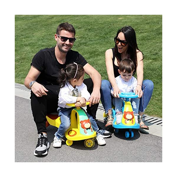 Twist car Swing car Children Yo Car Baby Swing Car Universal Wheel 1-3-6 Year Old Scooter FANJIANI (color : Yellow, Size : Mute wheel) Twist car ▶Tip: The delivery time of the product is 8-15 days, If you have any questions, please feel free to contact us ▶Environmental PP material, non-toxic, no odor, anti-drop, shockproof, baby play more assured ▶ Let the baby stimulate the left and right brains by grasping the grasp, promote the development of the cerebellum, support the body's lower body strength, maintain the stability of the body's center of gravity, and exercise the baby's balance ability. 6