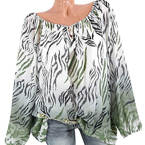 Estampado de Leopardo de Vendaje Superpuesto Camisetas de Manga Larga para Mujer Blusa para Mujer Camisetas Mujer Camisas Mujer Tops Tallas Grandes Mujer