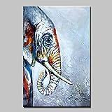 Hand gemalte Elefant Öl Gemälde auf Leinwand Moderne abstrakte Kunst Bilder für die Wand Dekoration Fertig zum Aufhängen, innerer Rahmen gehören, 16