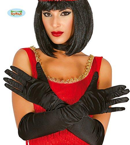 Handschuhe Satin Lange (schwarze lange Satin-Handschuhe 48)