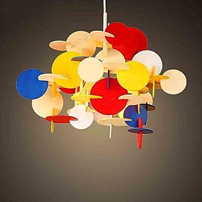 Interior chandeliers- Building Blocks Color Cartoon Children Bedroom Bedroom Lights Creative Personality Wood Art Aircraft Chandeliers --Lighting decorative lights