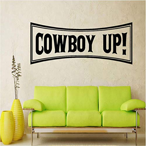 Kreative wand Quadratische Form Cowboy Up Wandaufkleber Wohnkultur Wohnzimmer Wandtattoos Kinder Jungen Raumdekoration