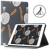 Custodia da 9,7 pollici iPad, sagome Frutti di melograno Foglie Supporto sottile Custodia rigida protettiva Custodia protettiva con guscio posteriore