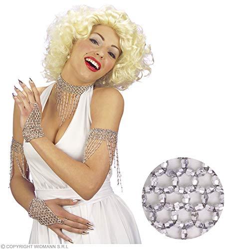 Widmann-wdm1722s costume adulto donna, argento, wdm1722s