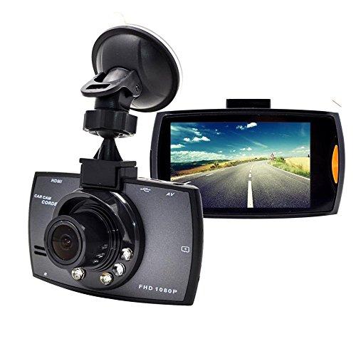 Telecamera per Auto con WiFi,Auto Dash Cam, 1080P Full HD 2,7 LCD DVR Video IR Visione Notturna Lenti, 120 gradi,G-Sensor, registrazione in loop,Monitor di parcheggio,Rilevatore di Movimento G30 Nero