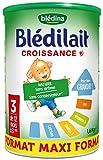 Blédina Blédilait - Lait bébé Croissance en poudre de 12 mois à 3 ans 1,6 kg -...