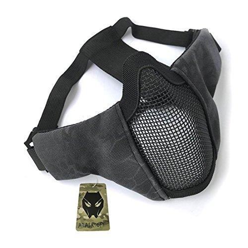 Tactical Airsoft CS Schutzkleidung Strike Stahl Halbmaske mit 2-Gürtel für Jagd Paintboll WorldShopping4U (Typhon Kryptek (TYP))