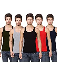 Hap Cotton Men's Gym Vest, Pack of 5,Tank Top Innerwear