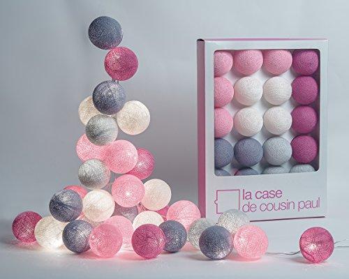 La Case de Cousin Paul - Guirlande lumineuse 20 boules colorées - Modèle Hoi An