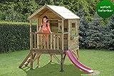 Kinderspielhaus 2B mit Rutsche - Abmessungen: 180 x 120 cm