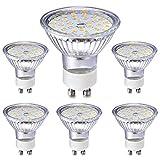 Eco.Luma GU10 LED Drei Dimmbarkeitstufen per Schalter Leuchtmittel/Lampe Glas Warmweiss, 5W Ersatz 35W 50W Halogen, 2800K 420LM Reflektor, 6er Pack