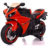 TALREJA ENTERPRISES Battery Operated Ride on Bike R1 with Hand Accelerator and Foot Brake and Lights - Rechargeable (RED…