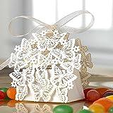 Dekoration 50 Stücke 3D DIY Weihnachtssüßigkeit Box Hochzeitssüßigkeitkasten Gastgeschenke Geschenkbox