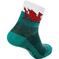 Sockguy Classic - Calcetines, Unisex, Color Varios Colores - Welsh Dragon, tamaño L/XL