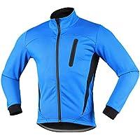 iCreat Hombre Jacket Air Jacket Wind Densidad Agua Densidad MTB Mountain Bike Jacket visible reflectante, forro polar cálido Jacket, Negro, otoño/invierno, hombre, color azul, tamaño medium
