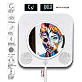 WayGoal Wall Mountable CD Player, Portable Bluetooth Built-in HiFi Speakers, Home Audio FM