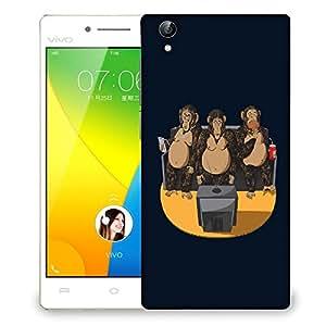 Snoogg Three Monkeys Designer Protective Back Case Cover For VIVIO Y51L