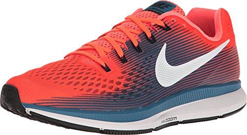 Nike Zoom Air Pegasus 34 Hyper Naranja/Negro-Industrial Azul del Zapato Corriente 13 DE EE.UU. 12 Reino Unido Hyper Naranja/Azul Negro-Industrial