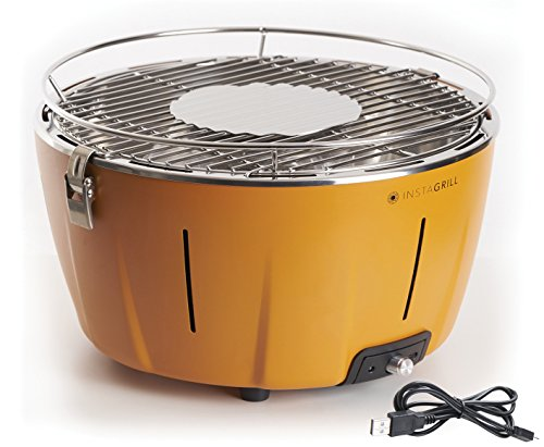 Class Italien 80003552 Holzkohlegrill ohne Rauch,, Notebook, orange