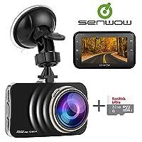 Senwow In Car Dash Cam Camera 1080P Full HD (With 32GB Card) 3