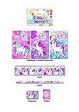 6x Schreibset Einhorn | Unicorn | 6 Sets a 5 Teile | Regenbogen | Mitgebsel | Einhornparty