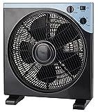 Ventilator Ø33cm 40 Watt | Bodenventilator | Tischventilator | leiser Betrieb für Büro, Schlafzimmer | Standventilator | Windmaschine | Oszillierend | 3 Stufen | Rotation zuschaltbar