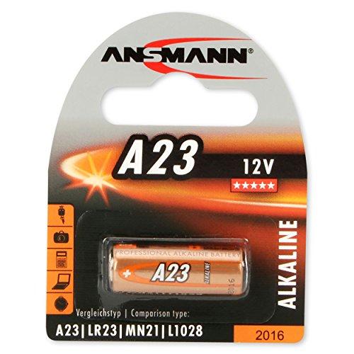 ANSMANN piles alcalines A23 (12V) pour ouvre-porte de garage, alarme, déclenchement à distance pour l'appareil photo, les instruments de mesure, etc .. bell