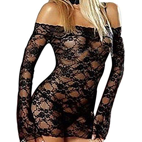 Hansee Frauen Plus Size Sheer Weste Crop BH Dessous Sexy Dessous Set Versuchung Unterwäsche Nachtwäsche (Schwarz) (Plus Size Sheer)